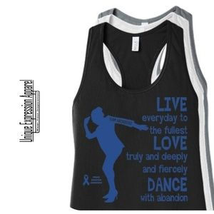 Women Dance TEAM ARCROSS82 Blue Print Tank